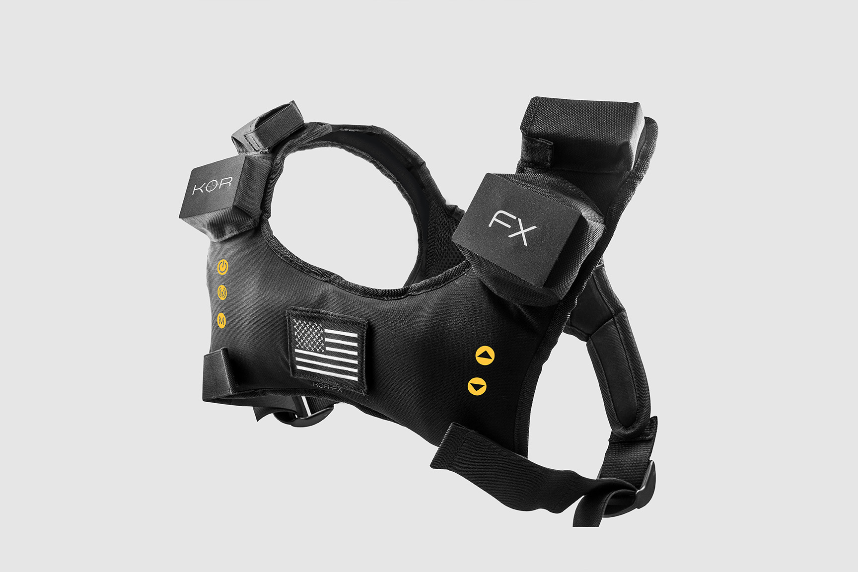 Wearable KOR-FX vest for audio feedback