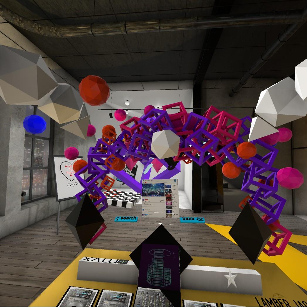 Screenshot from Basement VR studio experience
