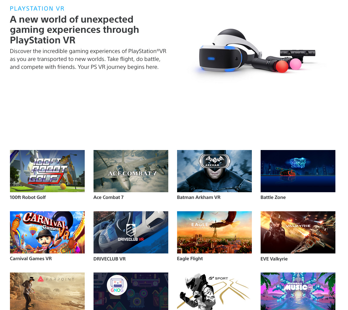 Playstation VR Store